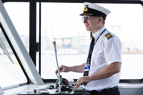 Wightlink captain steers FastCat ferry