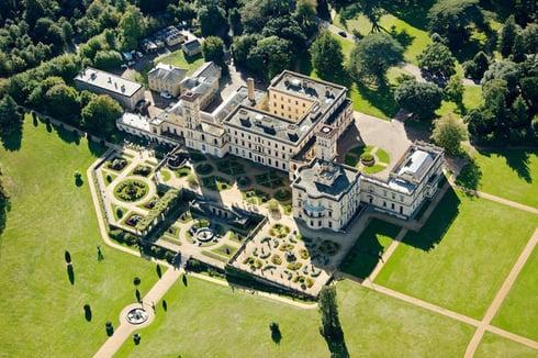 Aerial of Osborne House, Isle of Wight