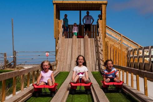 Children on ride at Tapnell Farm