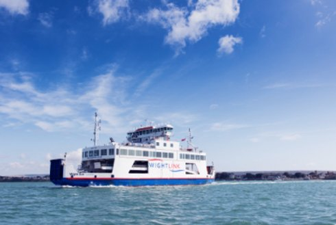 Wightlink Wight Sun ferry sailing in the Solent