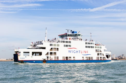 Wightlink's St Clare vehicle ferry sails the Solent
