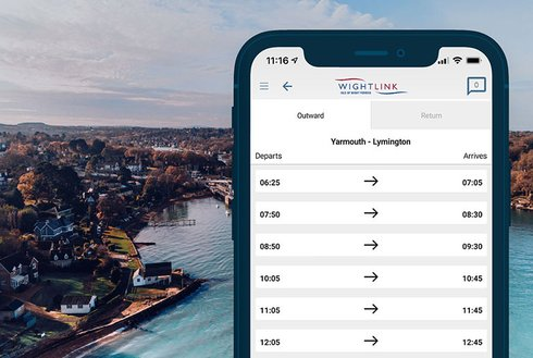 Wightlink app timetable