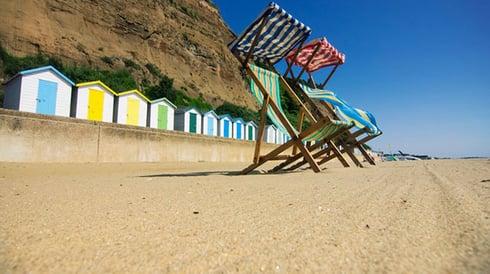 Deckchairs on Shanklin Beach