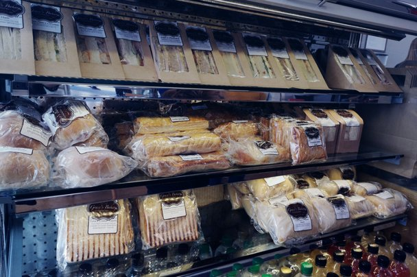 Sandwiches, pasties, rolls, wraps, and other food items