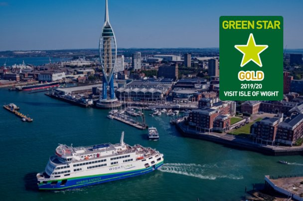 Victoria of Wight in Solent, Greenstar Gold logo 2019/2020