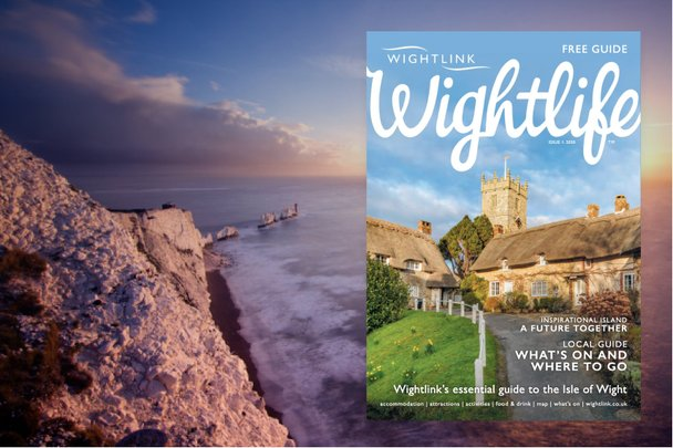 Promotional image showing the example cover of Wightlife magazine