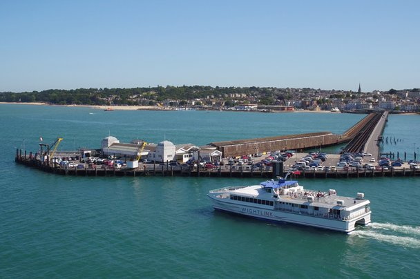 Wightlink FastCat nears Ryde Pier Head