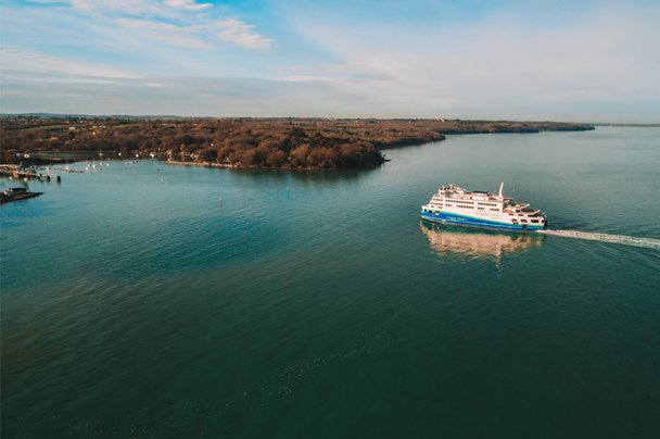 Victoria of Wight sails into Fishbourne