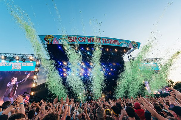 Isle of Wight Festival stage close up