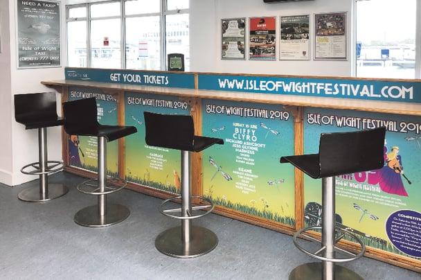 Wightlink estate advertising space