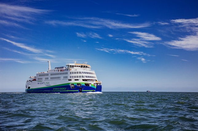 Victoria of Wight sailing alone in the Solent