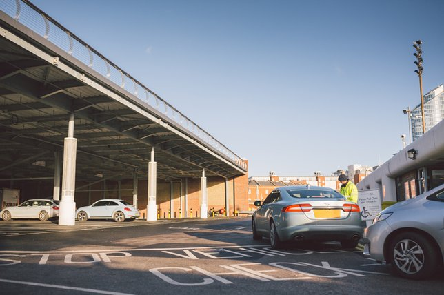 Cars check in at Gunwharf port, Portsmouth